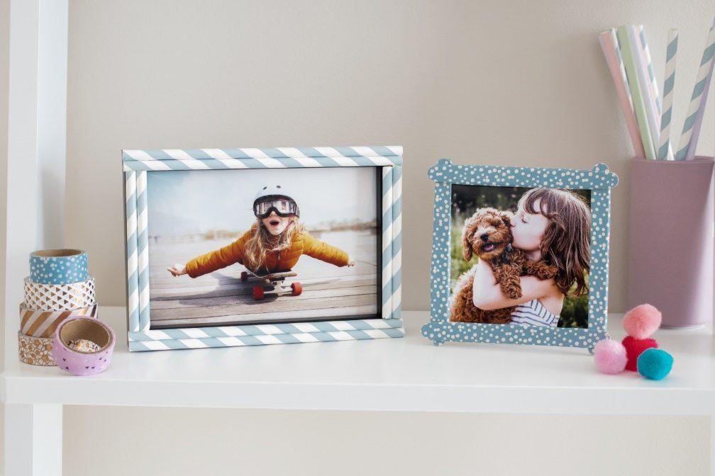 individuelle bilderrahmen als weihnachtsgeschenk mit kindern basteln ifolor. Black Bedroom Furniture Sets. Home Design Ideas