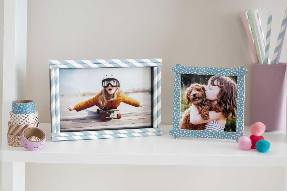 Vorschläge Weihnachtsgeschenke.Individuelle Bilderrahmen Als Weihnachtsgeschenk Mit Kindern Basteln