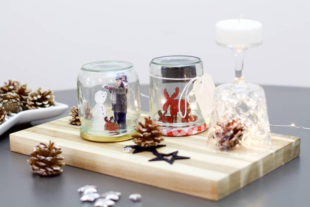 diy eine weihnachtliche schneekugel mit eigenen fotos. Black Bedroom Furniture Sets. Home Design Ideas